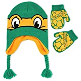 Teenage Mutant Ninja Turtle Little Boys' Michangelo Hat and Mitten Set