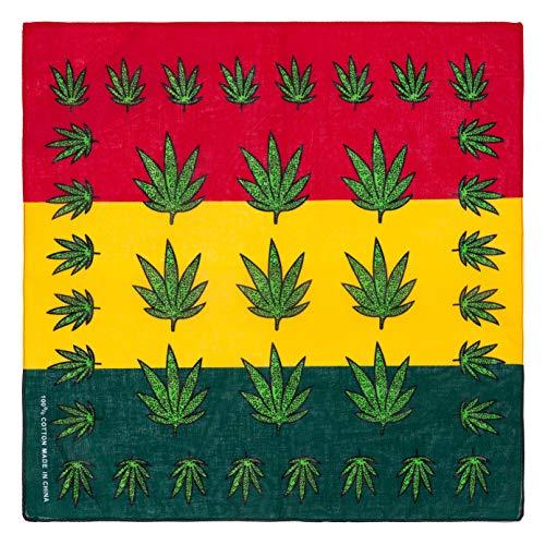Marijuana Hemp Leaf Logo 420 Weed Bandana Red