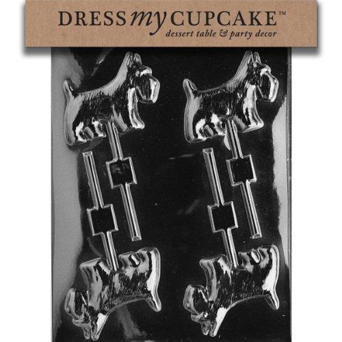 Dress My Cupcake DMCA053 Chocolate Candy Mold, Scotty Dog Lollipop ()