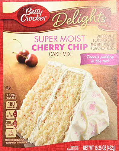 Cherry Frosting - Betty Crocker Cherry Chip Cake Mix and Cherry Frosting Bundle - 2 of Each