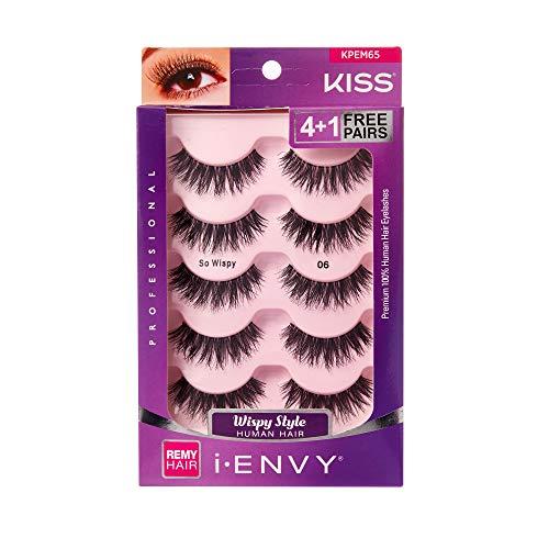 i Envy by Kiss So Wispy 06 Strip Eyelashes Value Pack #KPEM65 (Value Kiss Eyelashes Pack)