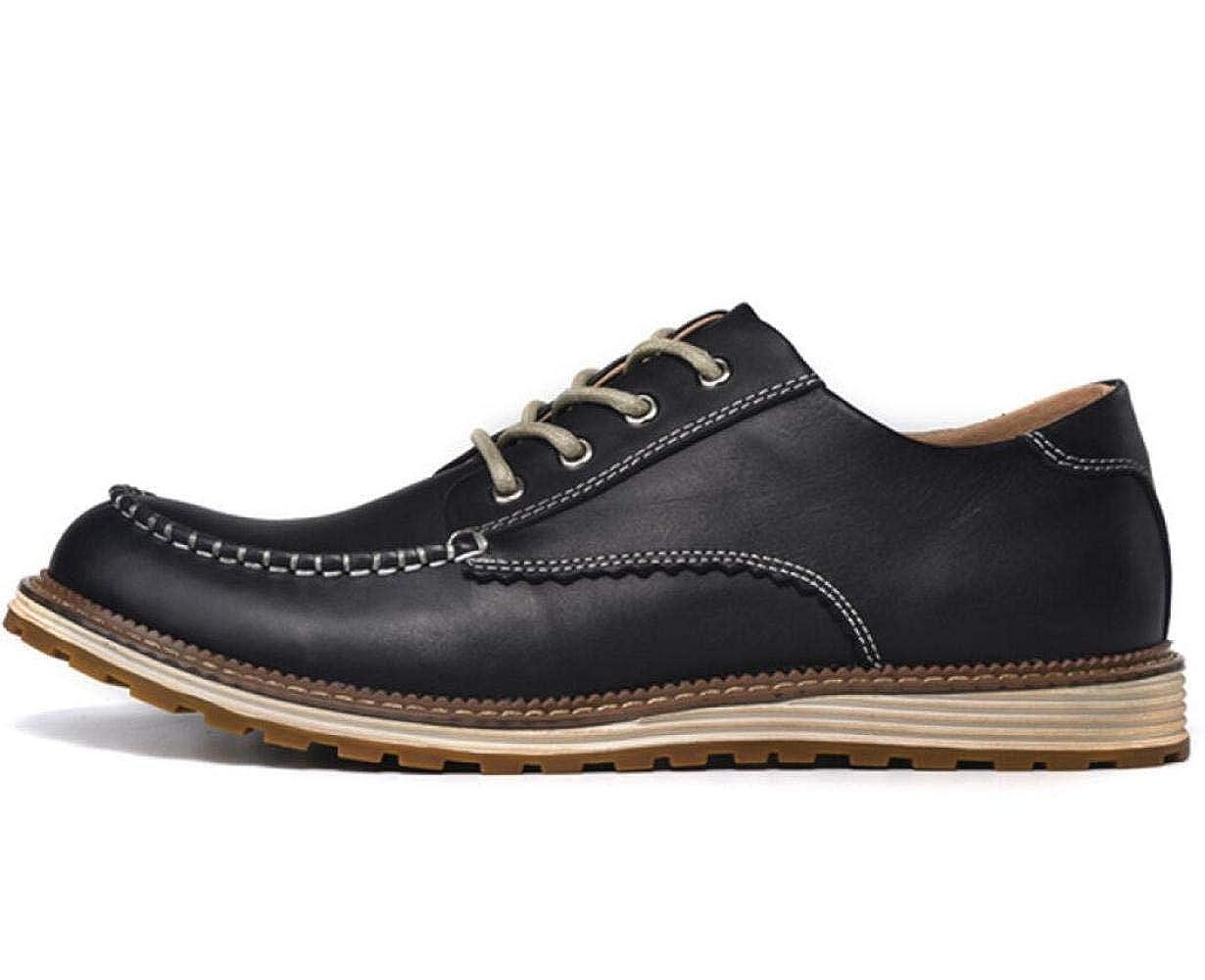 DHFUD Herrenschuhe Herren-Casual-Schuhe Retro-Niedrig-Lederschuhe Lederschuhe Für Männer