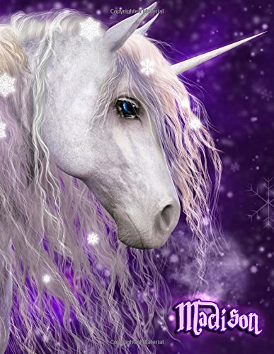 Read Online Madison: Unicorn Fantasy Yearly 365 Lined Pages Journal, Diary, Notebook, Personalized with Name Christmas, Birthday, Friendship Gifts for Girls, Teens and Women PDF