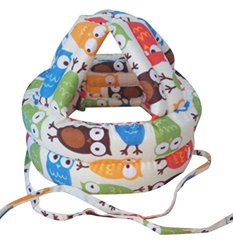 Bellady Infant, Toddler & Baby Child No Bumps Safety Protective Hat,Owl - Baby Safety Helmet