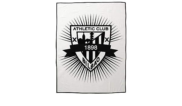 Manta Rachel Athletic Club de Bilbao 130x170 - Manta de Viaje - Estampado Fondo con el Escudo del Bilbao: Amazon.es: Hogar