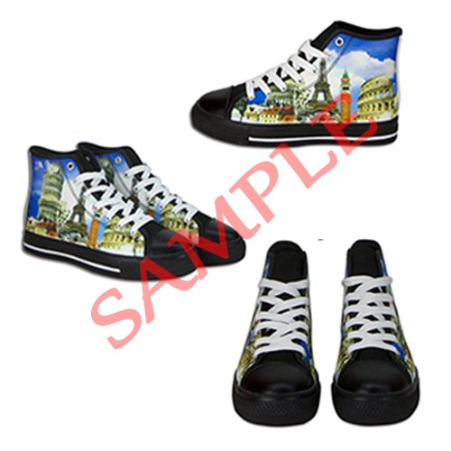 Dalliy Cool Skull Mens Canvas shoes Schuhe Lace-up High-top Sneakers Segeltuchschuhe Leinwand-Schuh-Turnschuhe B
