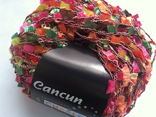 S. Charles Collezione Cancun #99 Butterfly Flag Ribbon Yarn 50 Gram