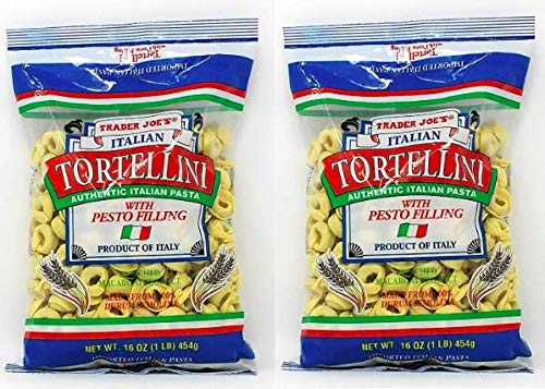 - Trader Joe's Italian Tortellini with Pesto Filling NET WT. 16 OZ (1LB) 454g - 2-PACK