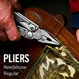 LEATHERMAN, Surge Heavy Duty Multitool with Premium Replaceable Wire Cutters and Spring-Action Scissors, Stainless Steel with Premium Nylon Sheath