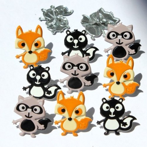 EYELET OUTLET Shape Brads, Woodland Animals, ()