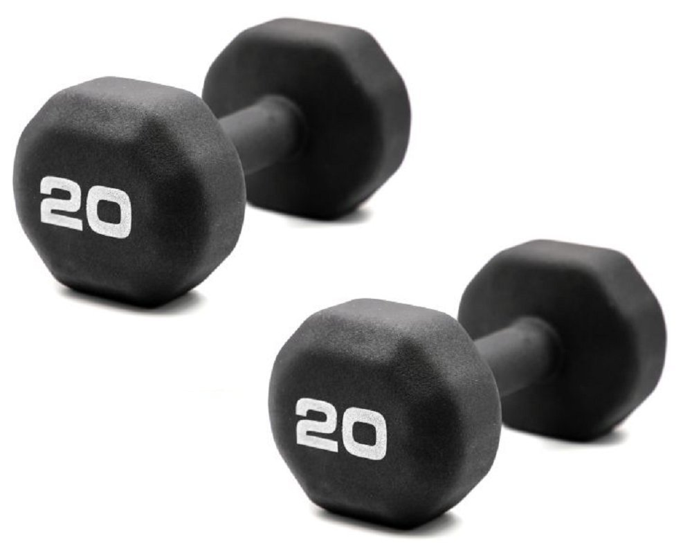 Set of 2 - Fitness Gear 20 lb. Neoprene Dumbbell