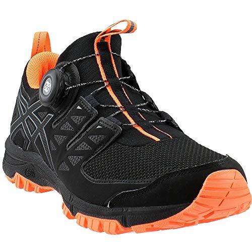men s gel fujirado black carbon orange