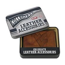 NCAA West Virginia Mountaineers Embossed Genuine Leather Trifold Wallet