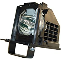 AuraBeam Economy Mitsubishi WD-73C10 Television Replacement Lamp with Housing
