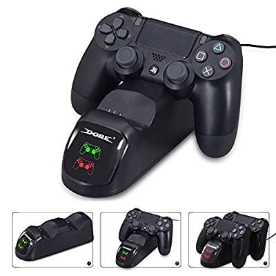 PS4 Dual Shock Controller Dual USB Charging Charger Docking Station for PS4 / PS4 Slim / PS4 Pro Controller from DOBE