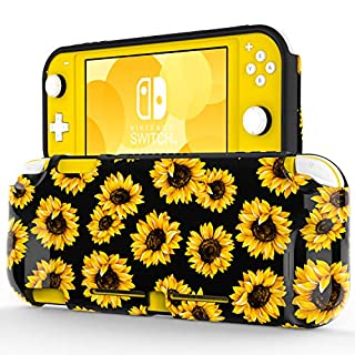 """ZADORN Protective Case for Nintendo Switch Lite 2019,Perfect Grip TPU Cover with Fashionable Designs,Shockproof Game Carrying Travel Case for Nintendo Switch Lite 5.5"""" Beautiful Sunflowers"""