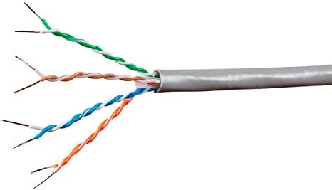 250FT CAT6A 10G Solid Bare Copper Bulk Cable