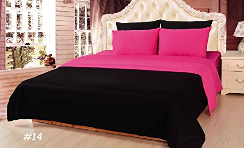 Tache Home Fashion DUALColorPink-S Reversible Comforter Set, Twin, Pink by Tache Home Fashion (Image #1)'