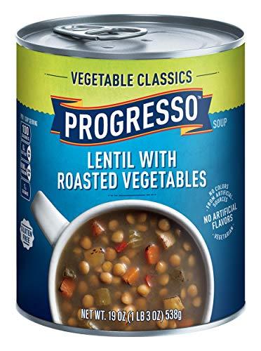 Progresso Vegetable Lentil with Roasted Vegetables Soup 19 oz Can