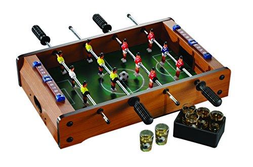 Game Night 326290-GB Shot Glass Drinking Foosball Table Game, Green