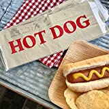 Printed Foil Hot Dog Bags - 75 Pack - Silver Red by