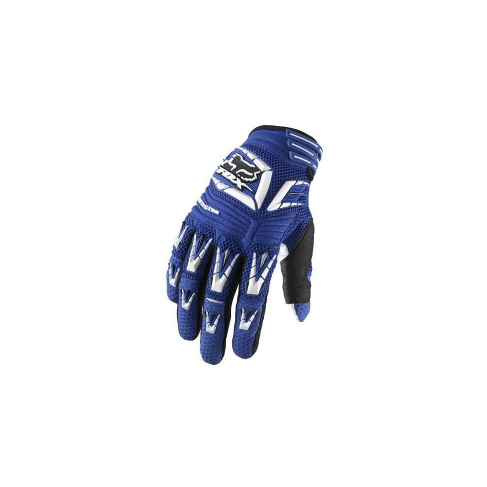 2010 Fox Racing Pawtector Gloves   Blue   12 (XX Large)