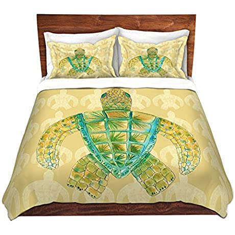DiaNoche Designs Microfiber Duvet Covers Catherine Holcombe Tomas Sea Turtle