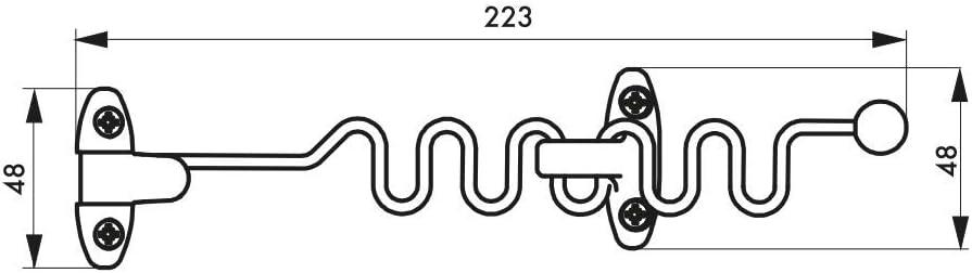 Entreb/âilleur de fen/être /à 1 ou 2 vantaux chrom/é Thirard
