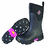 Muck Boot Women's Arctic Ice Mid Work Boot, Black/Pink, 9 M US