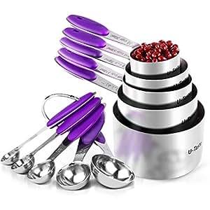 Amazon.com: U-Taste, 10piezas de tazas y cucharas ...