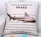 Verajin Mediterranean marine animal Patio Seating Sofas Cushions (shark)