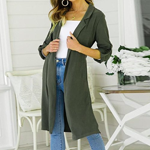 Arm Jumper Long Manteau Top Ladies Cardi Sleeve Open Longue Malloom Femme Fashion Veste w87HZUxx
