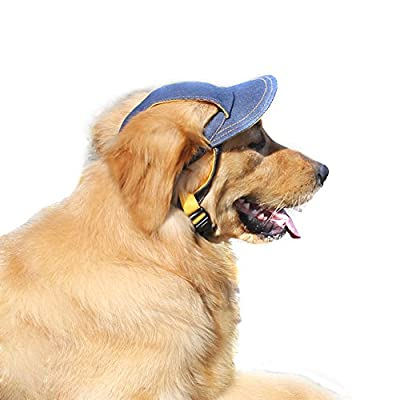 Bwogue Jeans Adjustable Pet Dog Sport Baseball Outdoor Sun Protection Hat / Cap for Large Small Pet from Bwogue