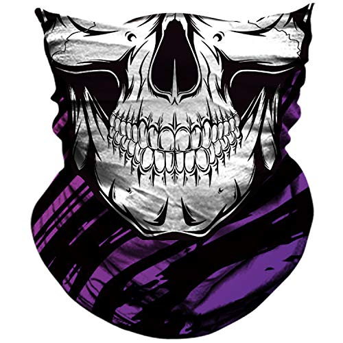 AXBXCX Skull Skeleton Outdoor Face Mask Neck Gaiter Bandana - Microfiber Polyester Seamless Headwear Dust Music Festivals Raves Ski Motorcycle Snowboard Hiking Halloween Party Cosplay Ghost Mask -