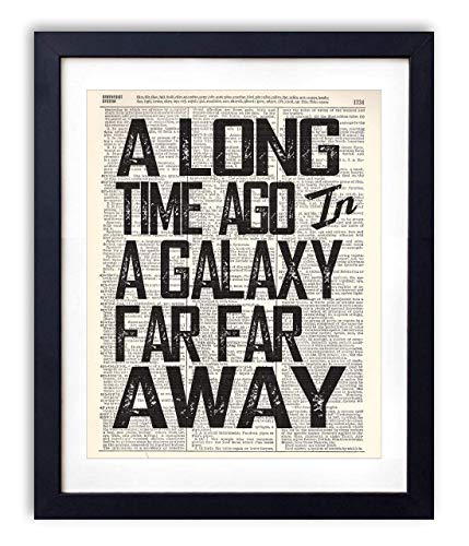 A Long Time Ago Quote Typography Vintage Dictionary Art Print 8x10