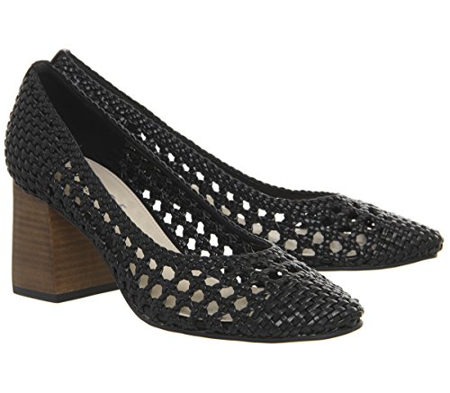 Maz Black Office Court Heels Weave Woven HqUaAwOza