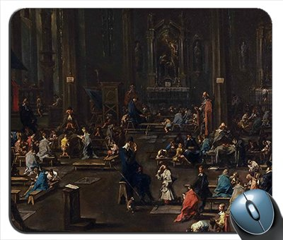 Alessandro Magnasco   The Catechism In The Cathedral Of Milan Mouse Pad