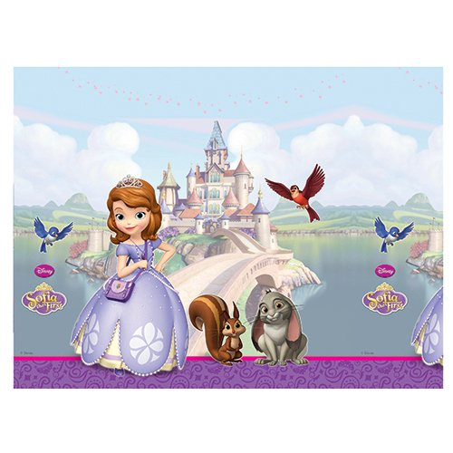 Disney 180 x 120cm Plastic Sofia the First Table Cover -