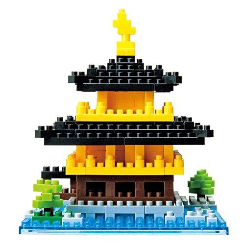 Kawada NanoBlock - NBH-011 - Kinkakuji Temple of The Golden Pavilion Micro Block Puzzle (2000 Piece)