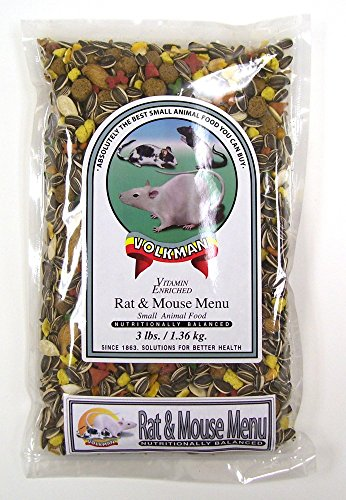 Volkman Seed Small Animal Rat & Mouse Gourmet Healthy Formulated Diet Food 4Lbs.