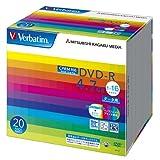三菱ケミカルメディア Verbatim 1回記録用 DVD-R DHR47JDP20V1 (CPRM対応/片面1層/1-16倍速/20枚)