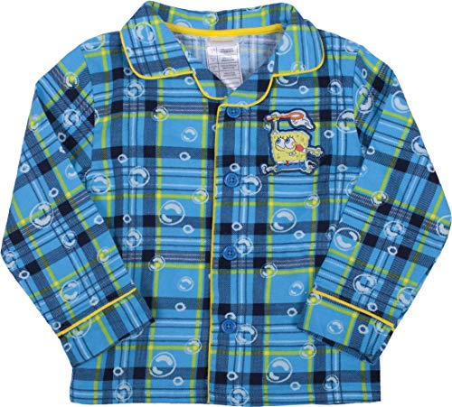 Spongebob Squarepants Pajama Boys Toddler Set - 4T Blue -