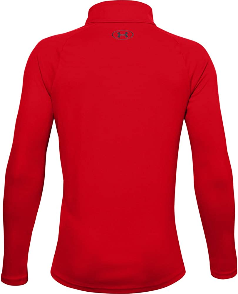 600 Youth X-Large Under Armour Boys Tech 2.0 1//2 Zip //Black Red