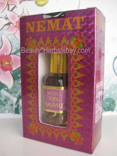 Nemat Amber White Perfume Oil, 10 ml, Mild Pleasant Fragrance