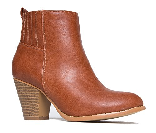 Keni High Heel Bootie,, Tan PU, 9 B(M) US