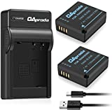 OAproda 2 Pack DMW-BLE9 Battery and Rapid Micro USB Charger for Panasonic DMW-BLG10 and Lumix DMC-GX9, DMC-GX85, DMC-GX80, DMC-GX7, DMC-ZS200, DMC-ZS100, ZS70, ZS60, DMC-GF3, GF5, GF6, DMC-LX100