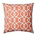 Pillow Perfect Lattice Damask Tangerine Throw Pillow