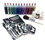 Ybody Glitter Tattoos Professional Glitter/shimmer Tattoo Kit Poof Bottles Rainbow Set by Ybody Glitter Tattoos