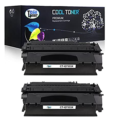 Cool Toner 2 Pack Compatible HP 53X Q7553X 49X Q5949X Black Toner Cartridges Used For HP LaserJet P2015 P2015d P2015n P2015Dn P2015x, LaserJet M2727nf M2727nfs - P2015x Laser Printer