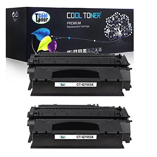 Cool Toner 2 Pack Compatible HP 53X Q7553X 49X Q5949X Black Toner Cartridges Used For HP LaserJet P2015 P2015d P2015n P2015Dn P2015x, LaserJet M2727nf M2727nfs MFP